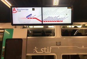 Afficheur COTEP information voyageur RER A RATP