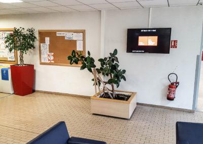 Afficheur Slim 46'' COTEP - gamme indoor (EM Lyon Business School, Campus Ecully)