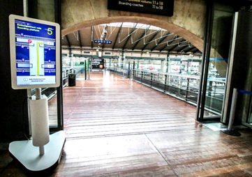 solution autonome et mobile plateforme embarquement Eurostar Paris Nord