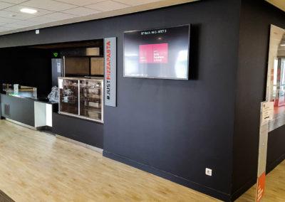 écran affichage dynamique cafétéria école de commerce